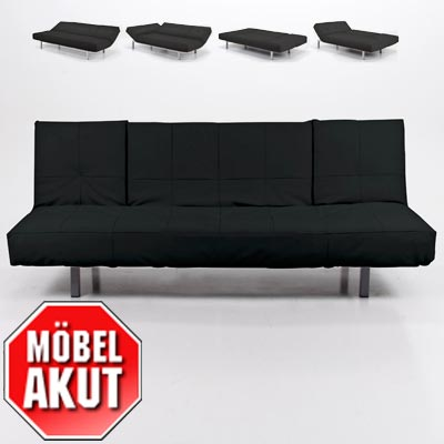schlafsofa bonita sofa schwarz bettfunktion neu ebay. Black Bedroom Furniture Sets. Home Design Ideas