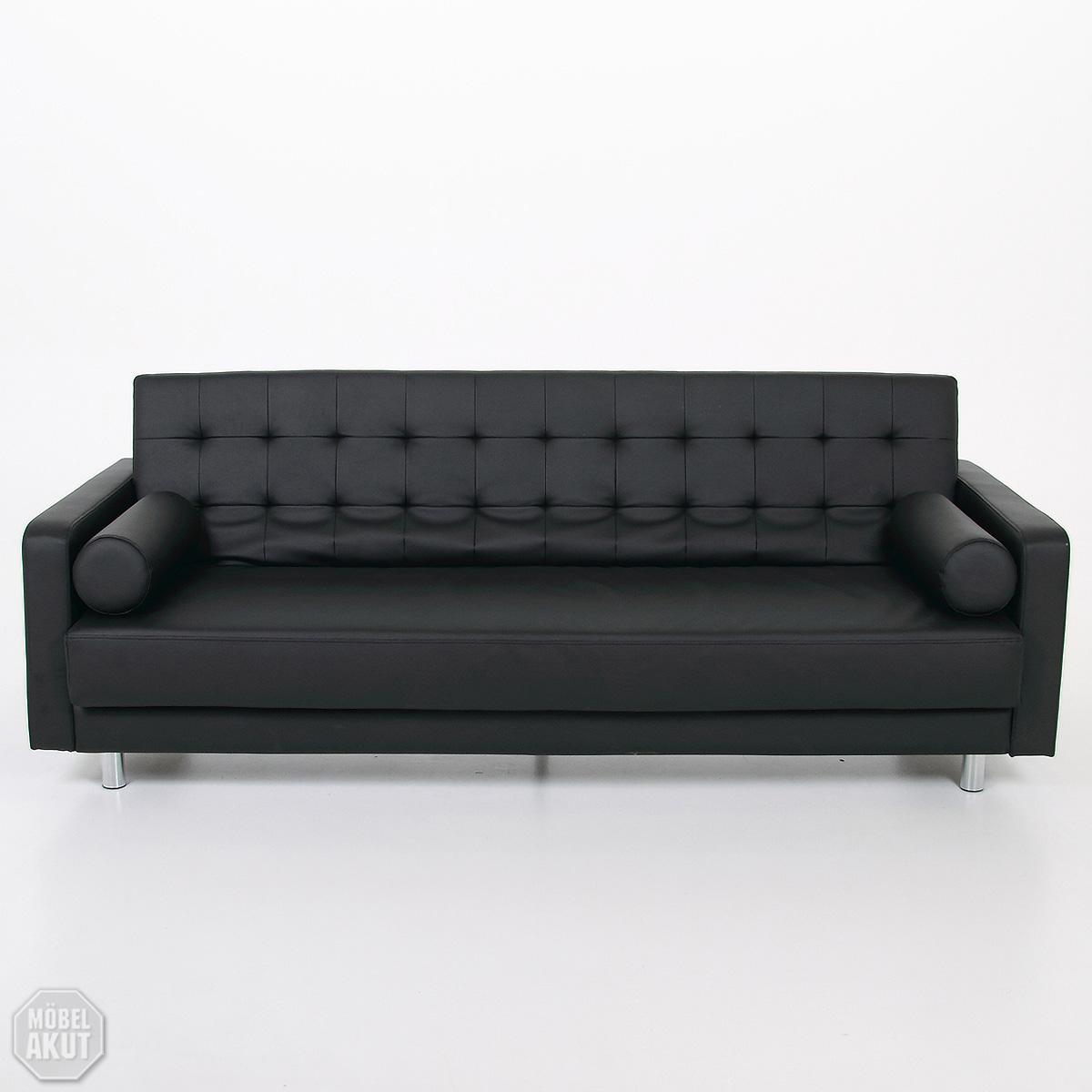 schlafsofa grando sofa schwarz bettfunktion neu. Black Bedroom Furniture Sets. Home Design Ideas