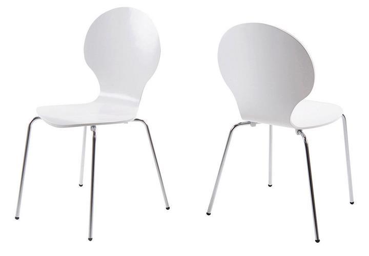 stuhl marcus 4er set stapelstuhl esszimmer konferenzstuhl k chenstuhl wei ebay. Black Bedroom Furniture Sets. Home Design Ideas