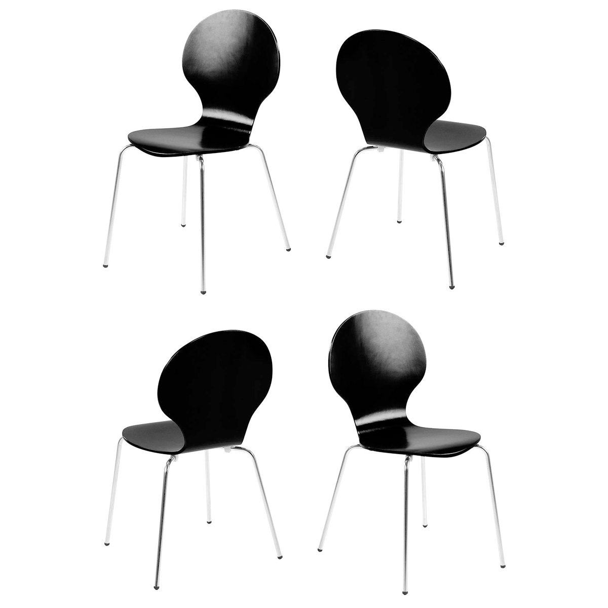 Stuhl marcus 4er set stapelstuhl esszimmer konferenzstuhl for Stuhl schwarz esszimmer