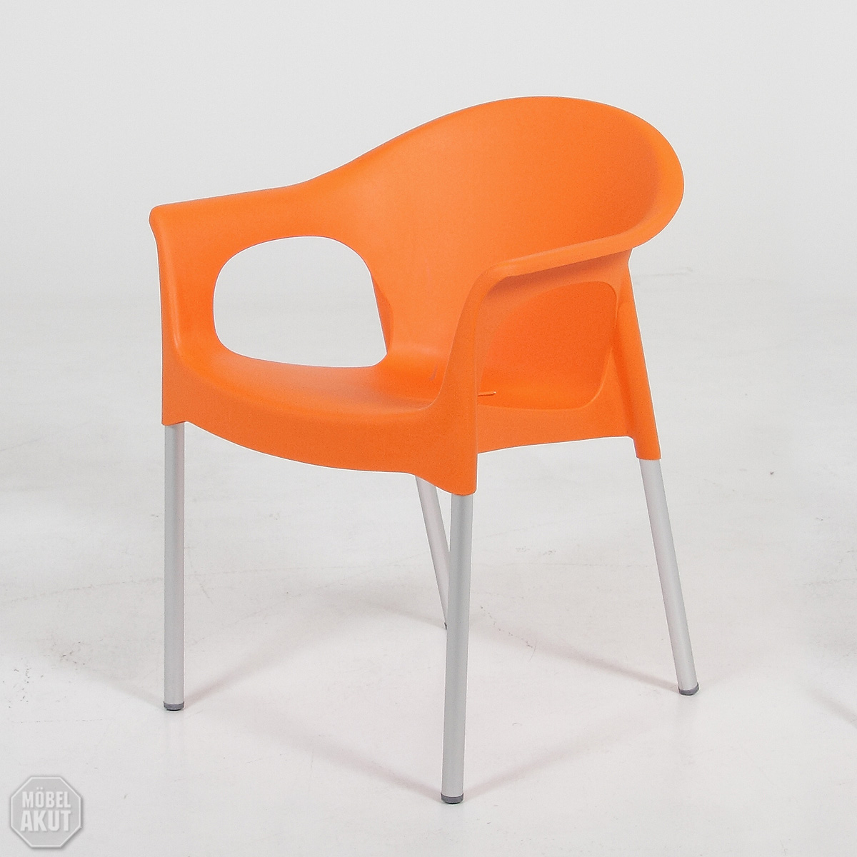 stuhl troja orange stapelstuhl outdoor geeignet ebay. Black Bedroom Furniture Sets. Home Design Ideas