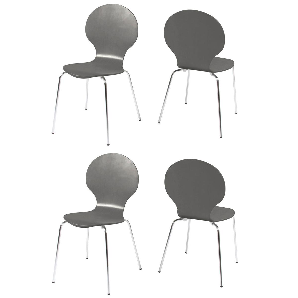 stuhl marcus 4er set stapelstuhl esszimmer besucherstuhl k chenstuhl ebay. Black Bedroom Furniture Sets. Home Design Ideas