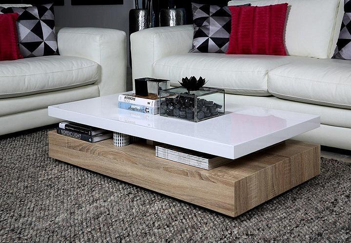 Couchtisch Malakit Wohnzimmer Tisch Platte weiß Hochglanz