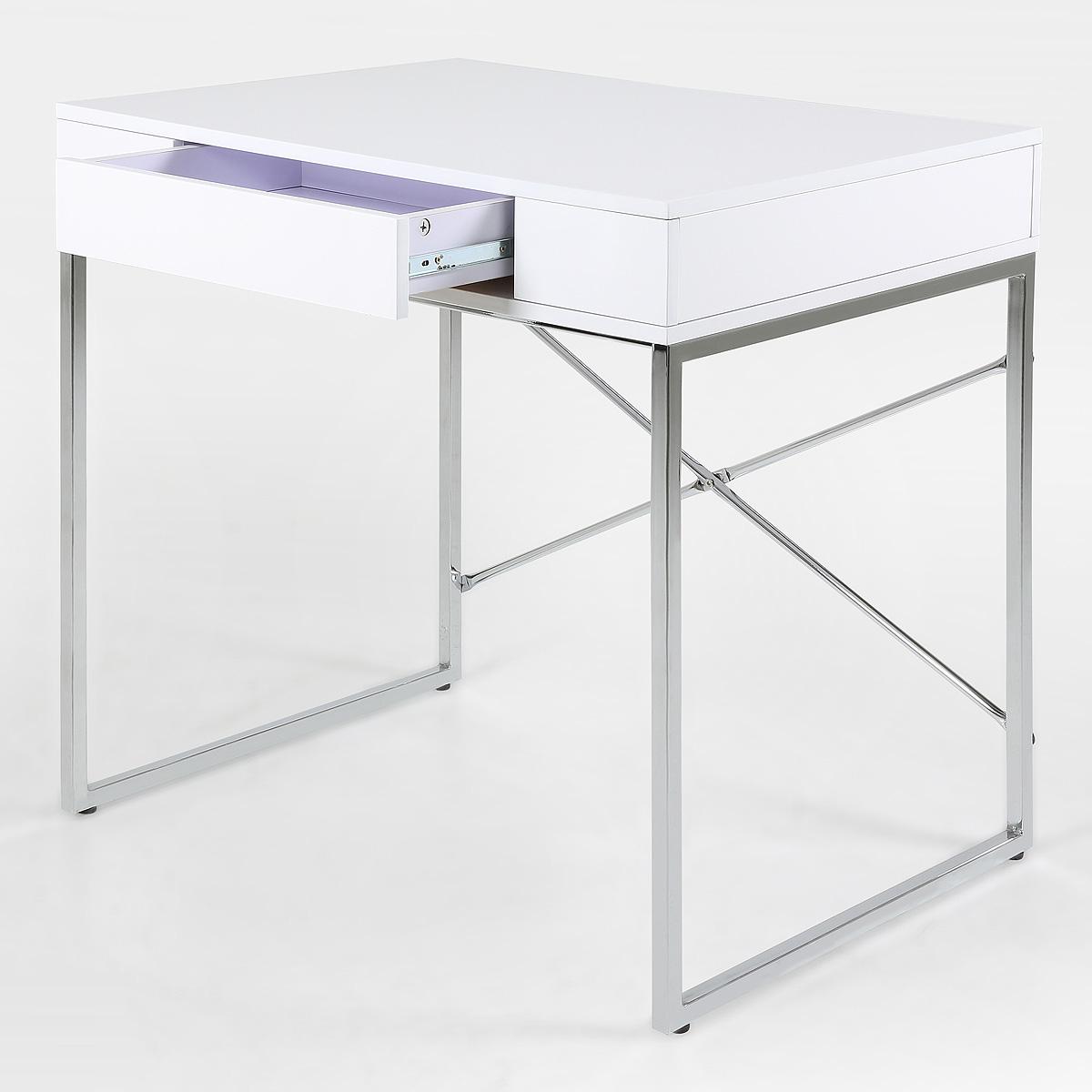 schreibtisch vallez b rotisch computertisch wei hochglanz lack neu ebay. Black Bedroom Furniture Sets. Home Design Ideas