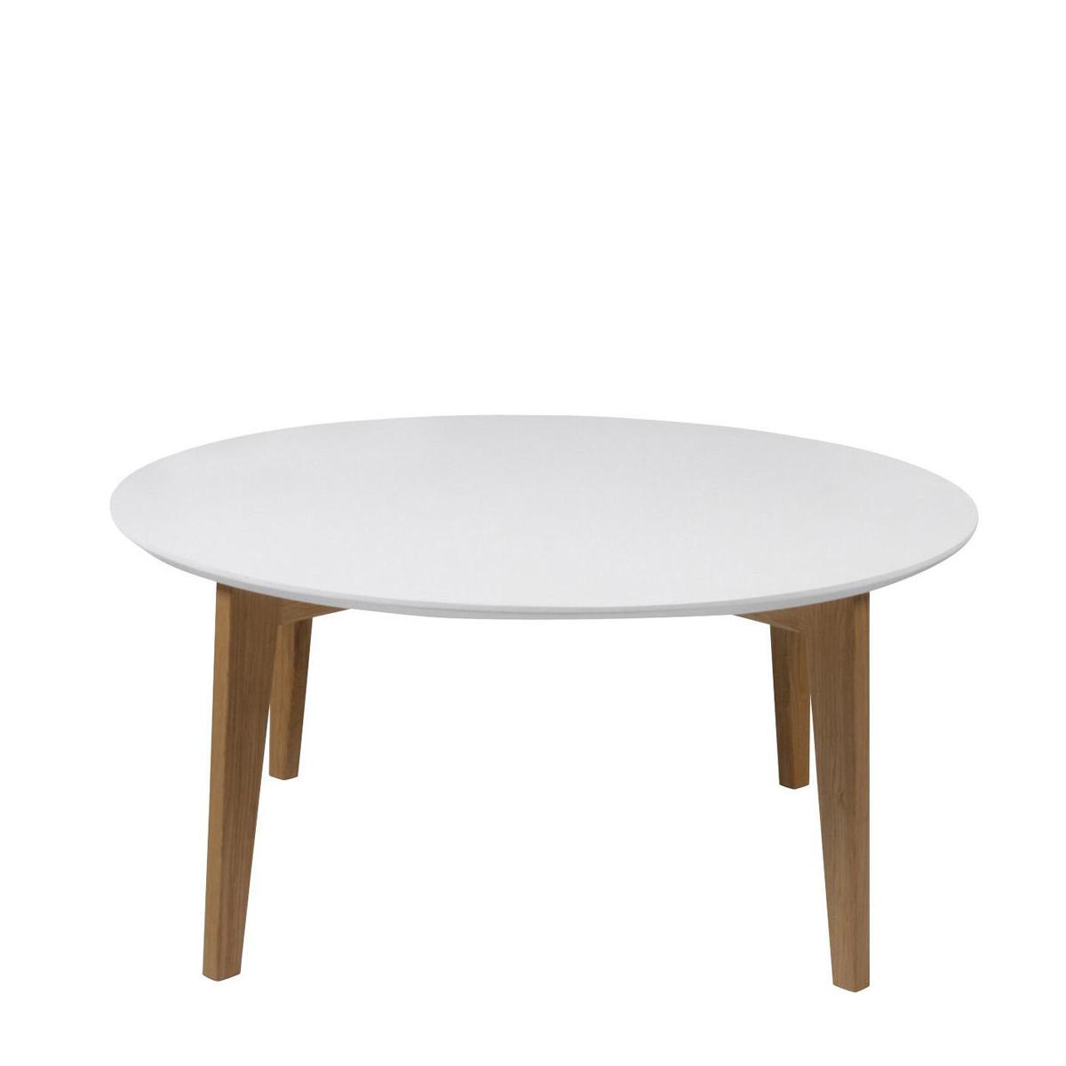 couchtisch abin wohnzimmer tisch platte rund wei lackiert gestell massiv eiche eur 119 95. Black Bedroom Furniture Sets. Home Design Ideas