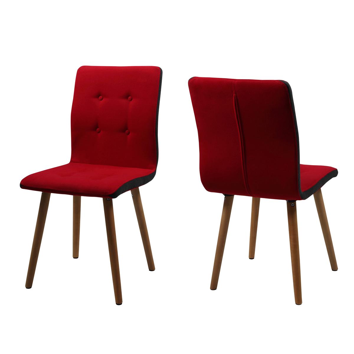 Stuhl frida 2er set retro polsterstuhl in stoff beine eiche massiv ge lt ebay - Stuhl eiche geolt ...
