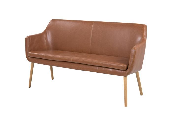sofa nora wohnzimmer sofabank in vintage lederlook braun. Black Bedroom Furniture Sets. Home Design Ideas
