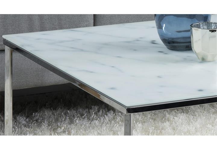 couchtisch alisma in glas wei und marmoroptik gestell. Black Bedroom Furniture Sets. Home Design Ideas