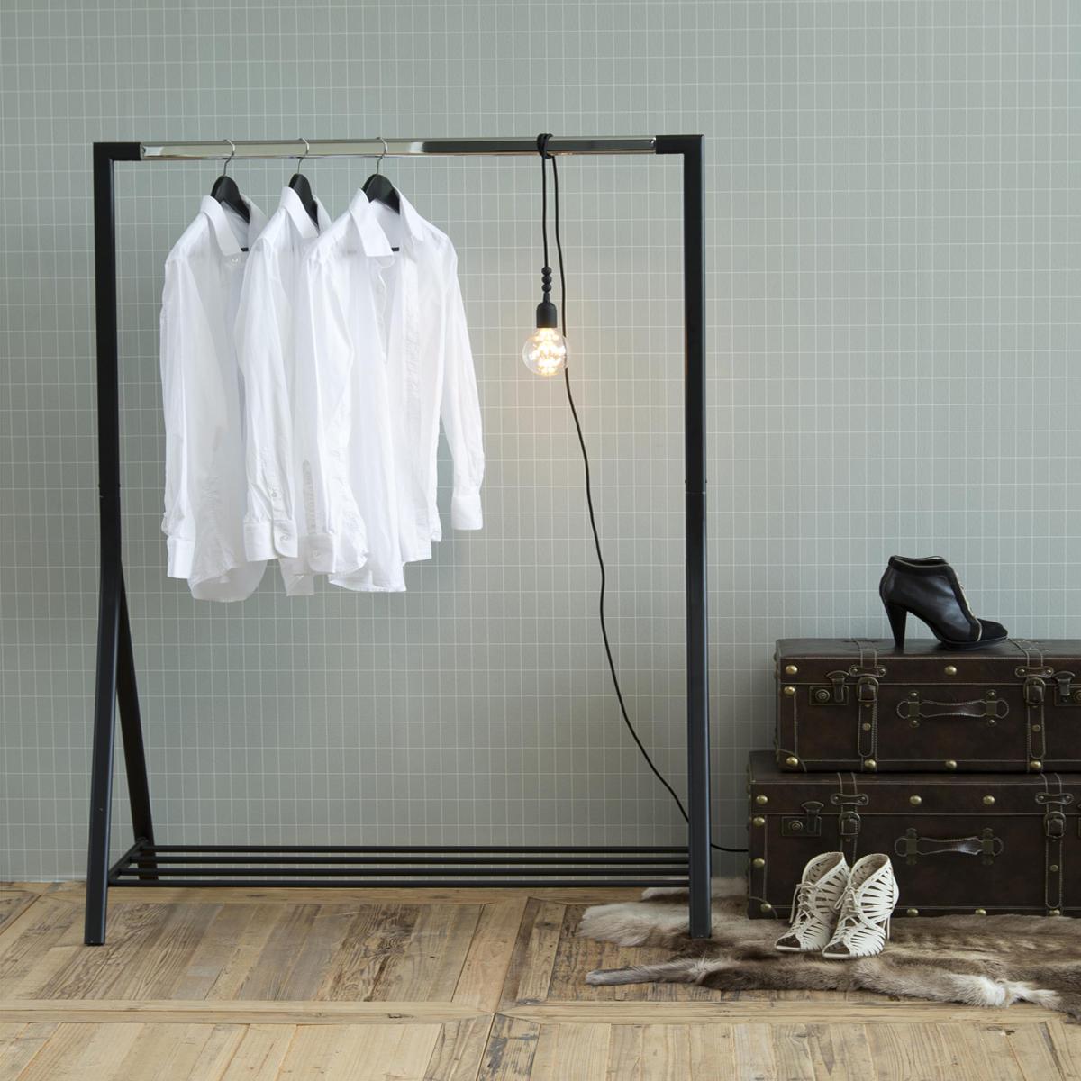 Kleiderstange Ebay: Garderobenständer Brent Kleiderständer Metall Schwarz Und