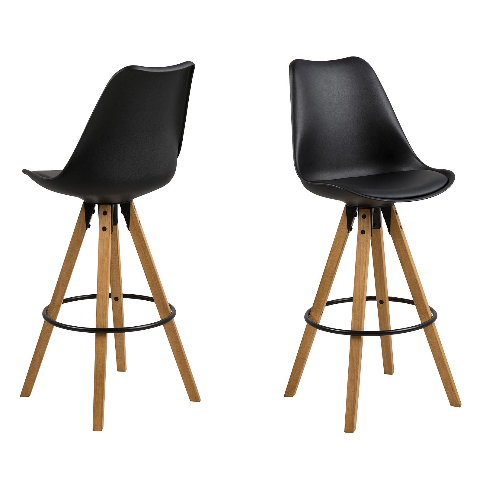 Stuhl dima 2er set esszimmerstuhl barhocker bezug schwarz for Barhocker dima