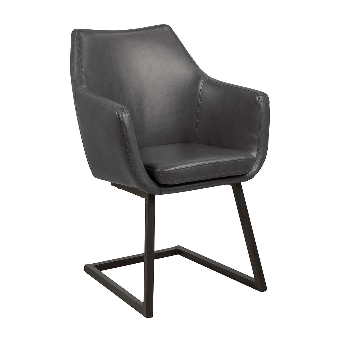 stuhl nora esszimmer armlehnenstuhl sessel in vintage lederlook stoff eiche ebay. Black Bedroom Furniture Sets. Home Design Ideas
