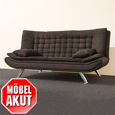 schlafsofa mary sofa schwarz mit bettfunktion neu ebay. Black Bedroom Furniture Sets. Home Design Ideas