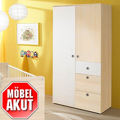 2 trg schrank vicky in wei ahorn babyzimmer ebay. Black Bedroom Furniture Sets. Home Design Ideas