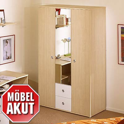 kleiderschrank vicky wei ahorn jugendzimmer ebay. Black Bedroom Furniture Sets. Home Design Ideas