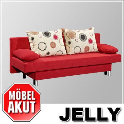 Schlafsofa jelly sofa in rot mit bettkasten neu ebay for Schlafsofa rot mit bettkasten