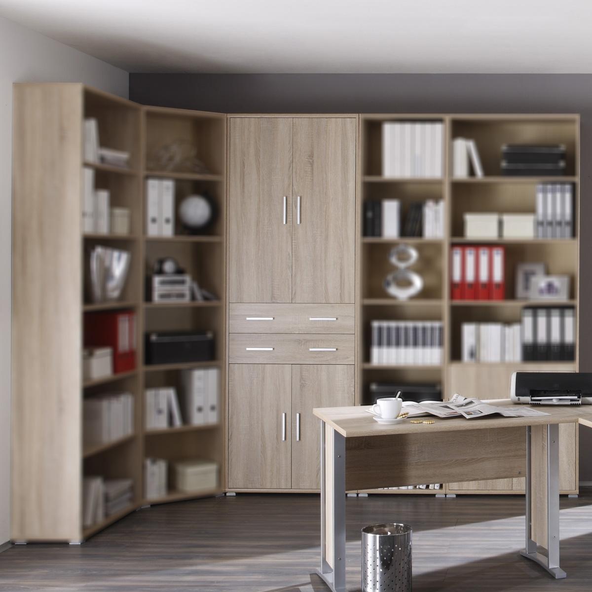 aktenschrank office line biz in sonoma eiche dekor regal. Black Bedroom Furniture Sets. Home Design Ideas