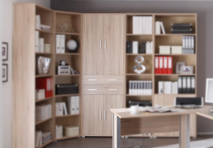 aktenschrank office line biz b rom bel in sonoma eiche dekor eur 149 95 picclick de. Black Bedroom Furniture Sets. Home Design Ideas