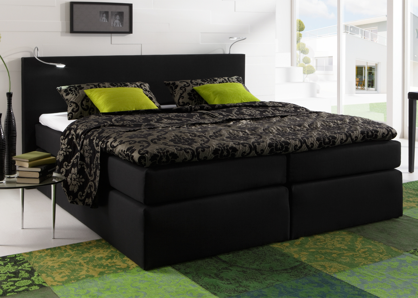 boxspringbett atlanta hotelbett doppelbett savanna federkern und topper ebay. Black Bedroom Furniture Sets. Home Design Ideas