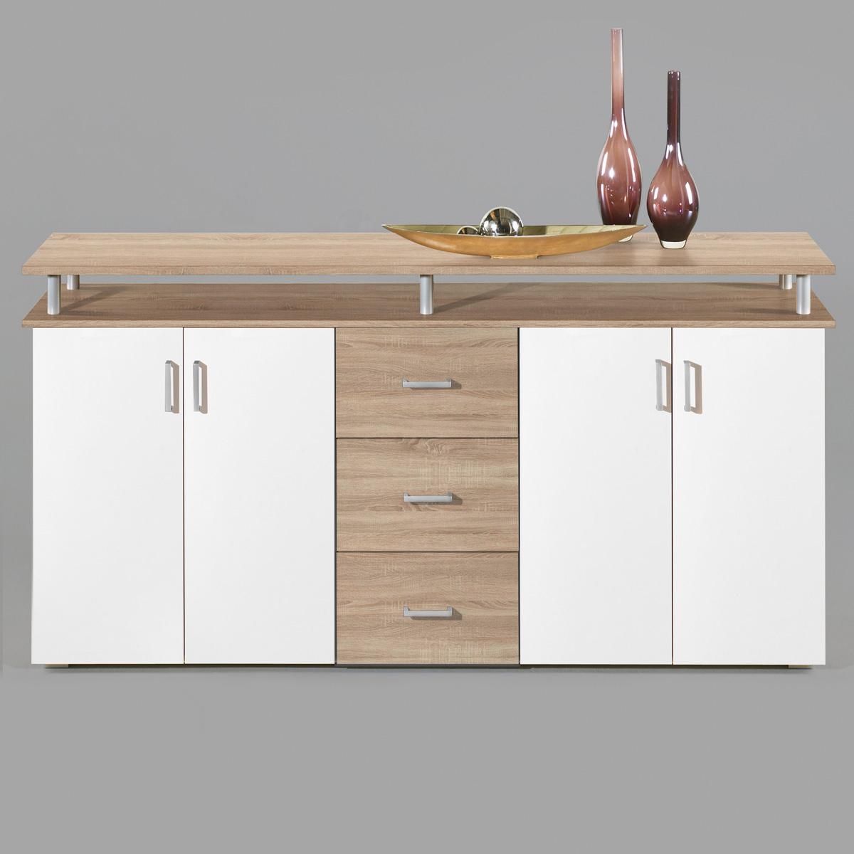 sideboard sonoma eiche roller interessante. Black Bedroom Furniture Sets. Home Design Ideas