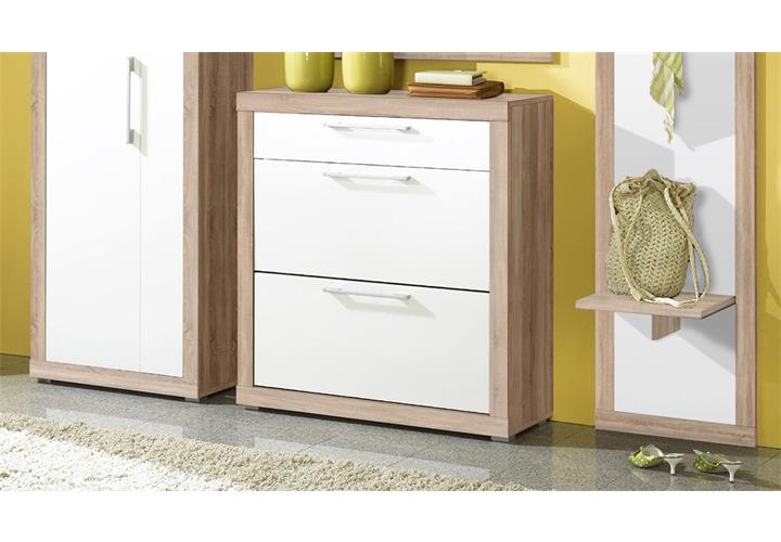 garderobe cube flurm bel set schuhschrank spiegel kleiderschrank sonoma eiche ebay. Black Bedroom Furniture Sets. Home Design Ideas
