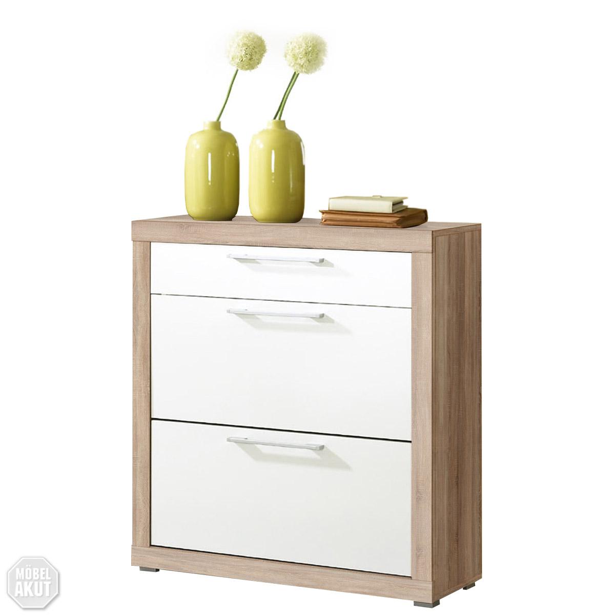 schuhschrank beco kommode in wei sonoma eiche. Black Bedroom Furniture Sets. Home Design Ideas