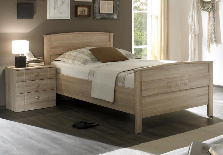 Schlafzimmer Set Curanum Seniorenzimmer in Eiche Sonoma Bett 3 ...
