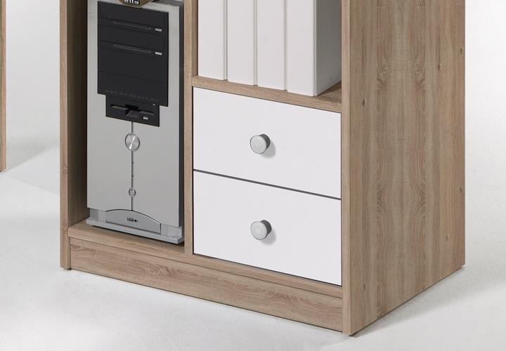 eckschreibtisch tanga in eiche sonoma schreibtisch b ro jugendzimmer computer eur 109 95. Black Bedroom Furniture Sets. Home Design Ideas