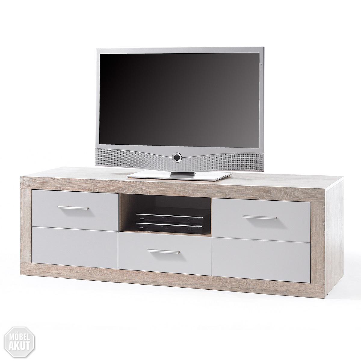 lowboard cancan 7 tv board tv kommode wei sonoma eiche. Black Bedroom Furniture Sets. Home Design Ideas