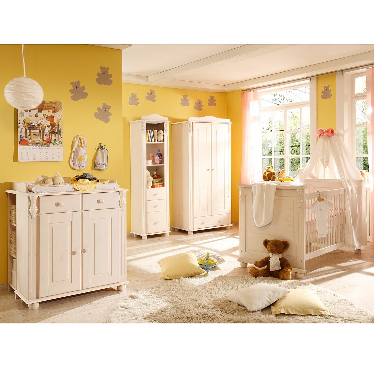 Babyzimmer set lara ii kinderzimmer babybett wickeltisch for Babyzimmer kinderzimmer
