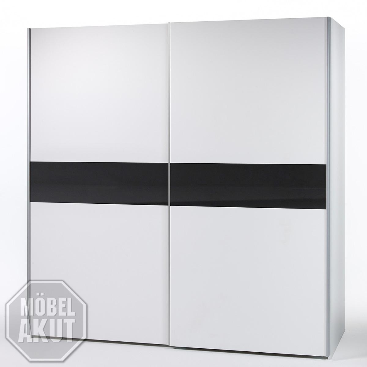 schwebet renschrank victor 4 kleiderschrank schrank in wei schwarz 220 210 cm ebay. Black Bedroom Furniture Sets. Home Design Ideas