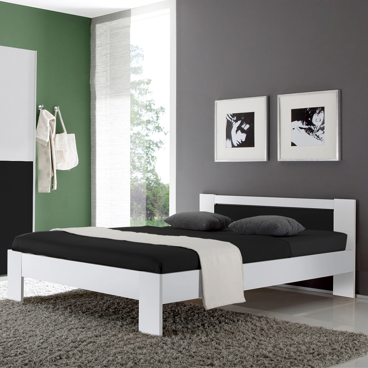 futonbett 140x200 mit matratze und lattenrost futonbett. Black Bedroom Furniture Sets. Home Design Ideas