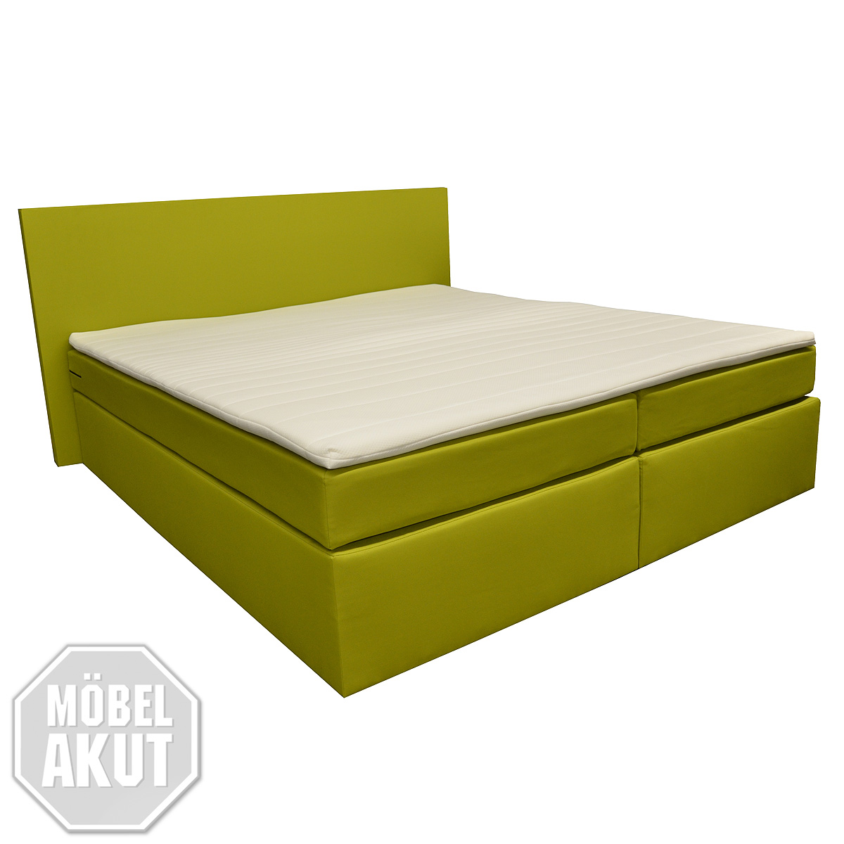 boxspring bett revenge doppelbett hotelbett in limette inkl topper 140x200 ebay. Black Bedroom Furniture Sets. Home Design Ideas
