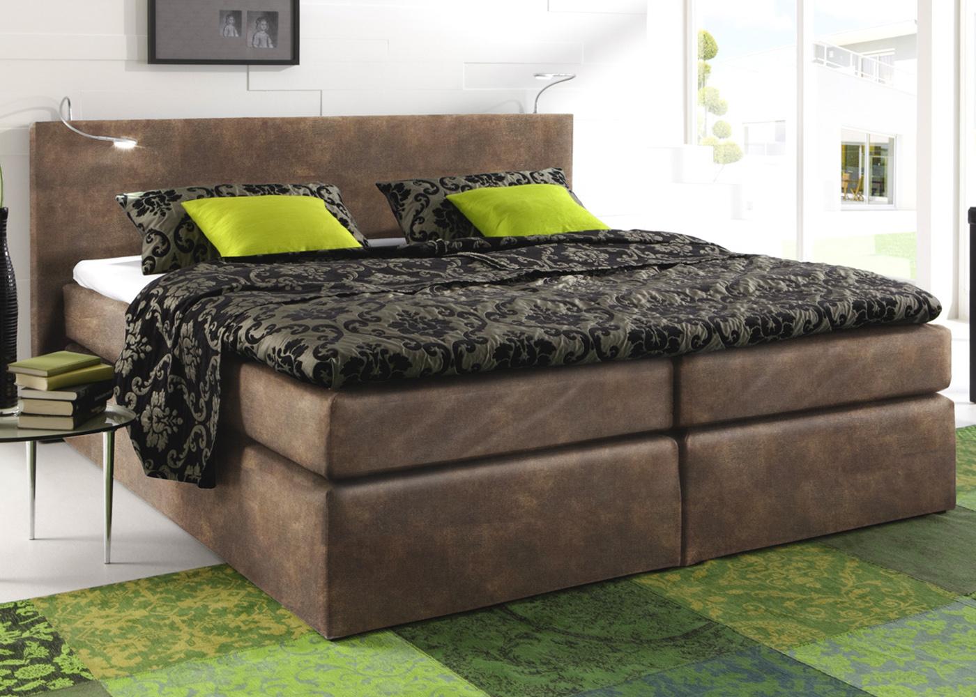 boxspringbett atlanta hotelbett schlafzimmer doppelbett. Black Bedroom Furniture Sets. Home Design Ideas