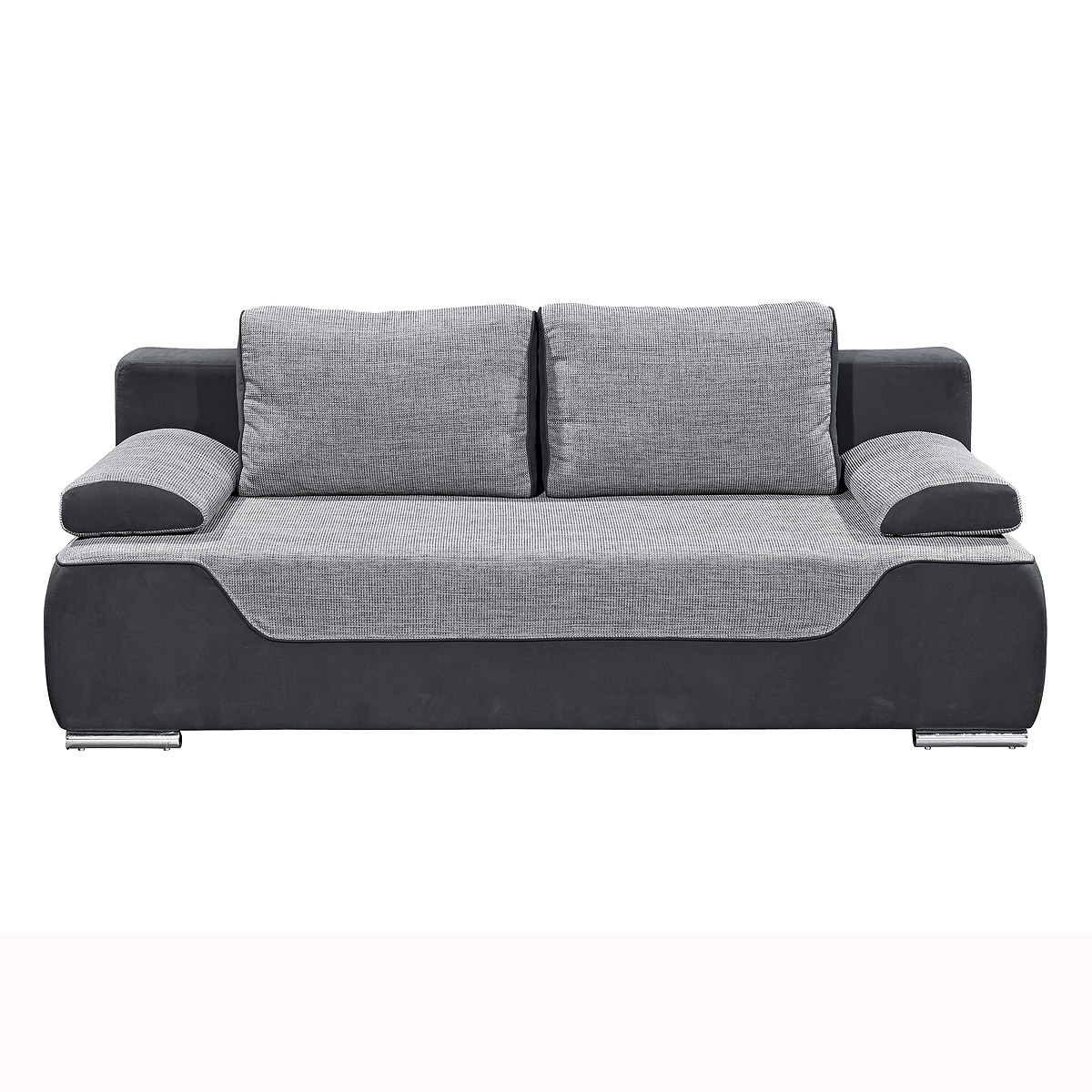 funktionssofa cleo schlafsofa sofa stoff schwarz grau ebay. Black Bedroom Furniture Sets. Home Design Ideas