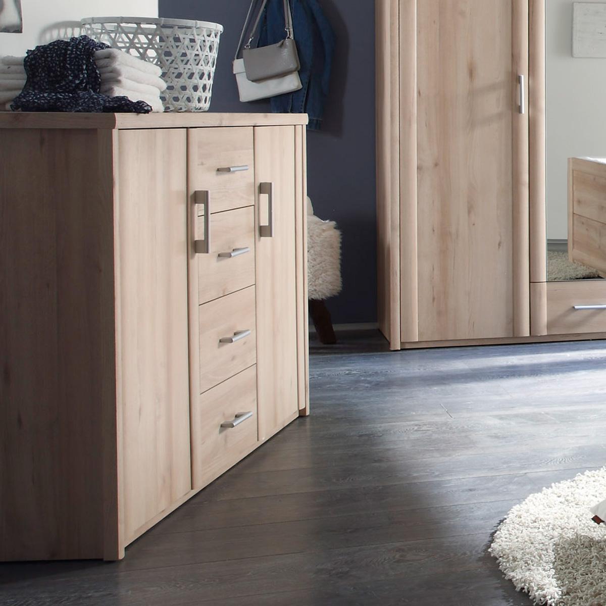 kommode classic schlafzimmer schrank 2 tuerig in buche dekor. Black Bedroom Furniture Sets. Home Design Ideas