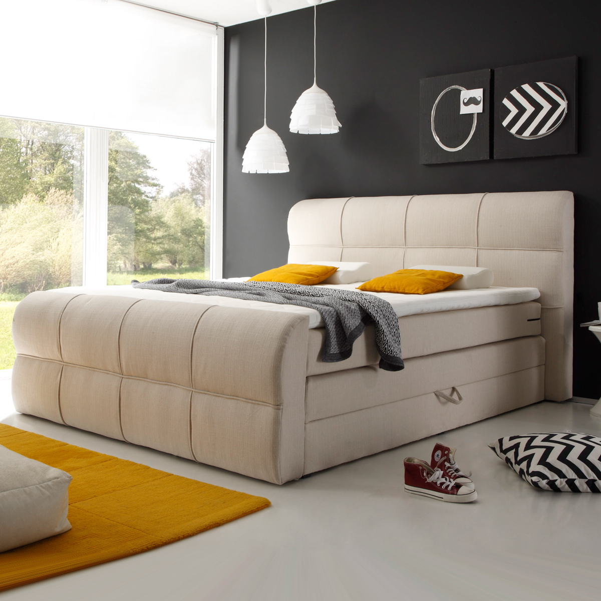 bettlaken boxspringbett topper boxspringbett inkl topper. Black Bedroom Furniture Sets. Home Design Ideas