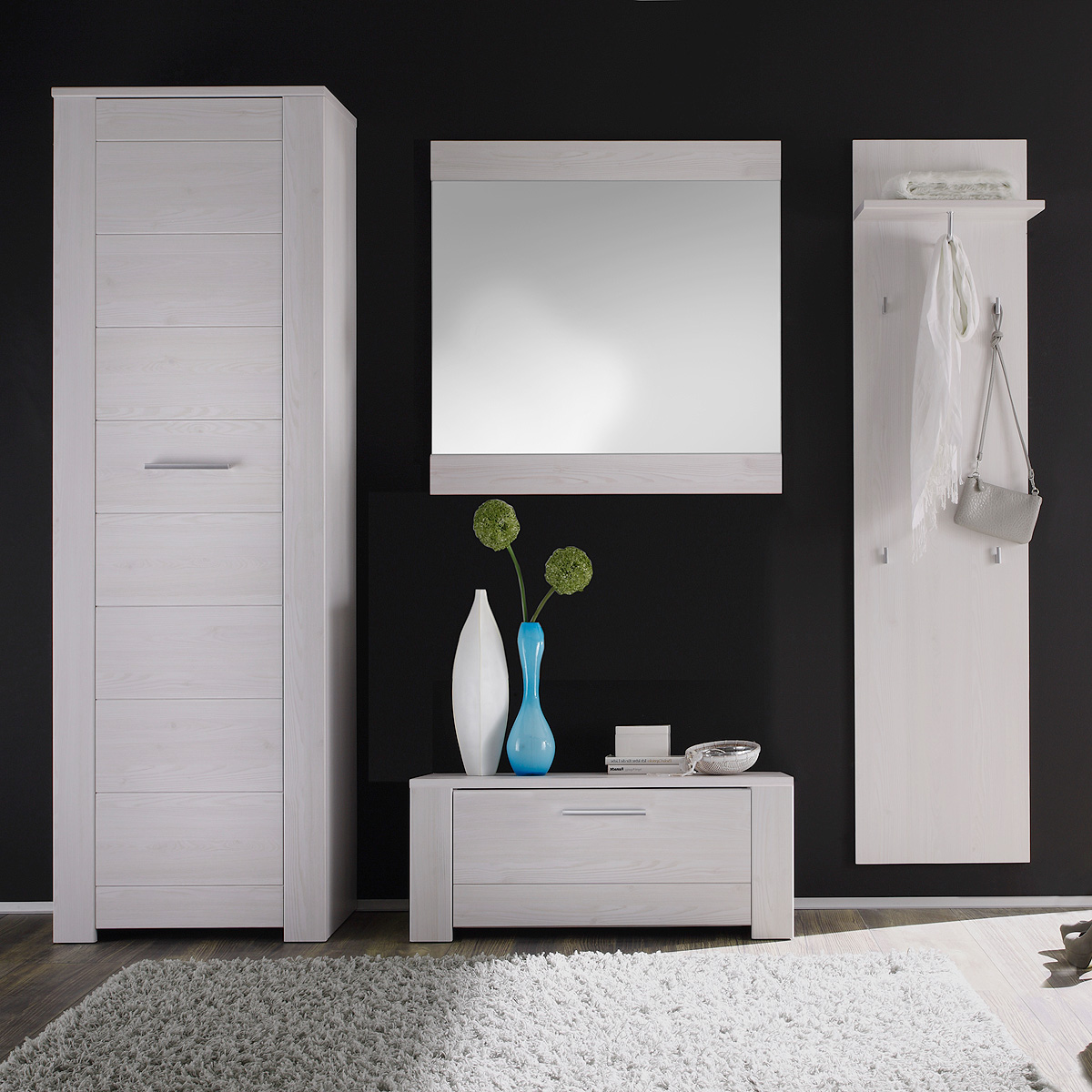 garderobenset time garderobe flurm bel in sibiu l rche in wei ebay. Black Bedroom Furniture Sets. Home Design Ideas