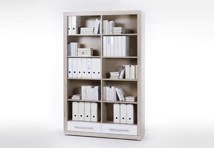 b ro cube b rom bel set 4 teilig wei und sonoma eiche. Black Bedroom Furniture Sets. Home Design Ideas