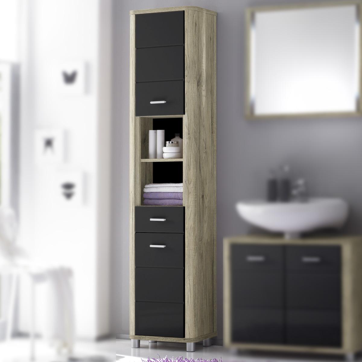 Badezimmer vital bad kommode hochschrank unterschrank for Badezimmer kommode weiay