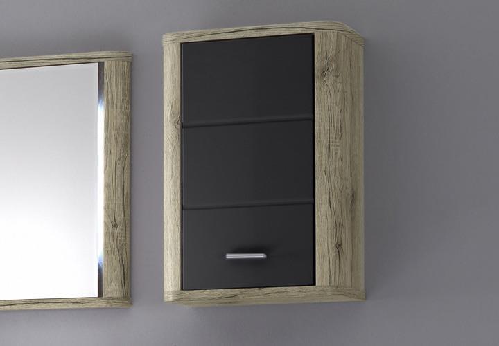 badezimmer vital bad kommode hochschrank unterschrank spiegel san remo eiche ebay. Black Bedroom Furniture Sets. Home Design Ideas