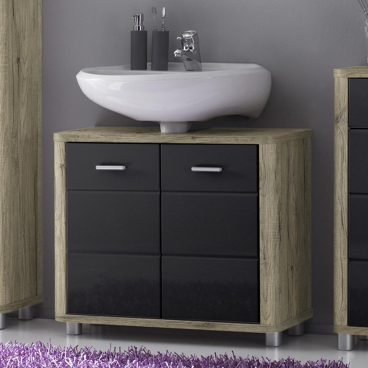Badezimmer vital bad kommode hochschrank unterschrank for Spiegel unterschrank