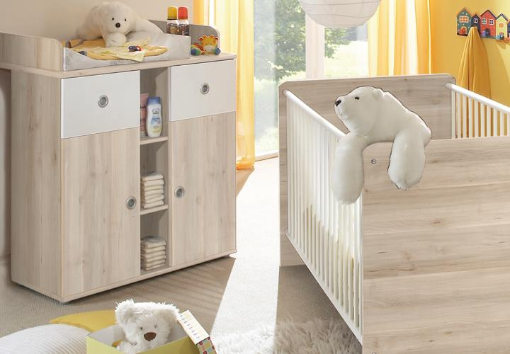 babyzimmer 3 teilig wiki babybett wickelkommode kleiderschrank 2 t rig edelbuche. Black Bedroom Furniture Sets. Home Design Ideas