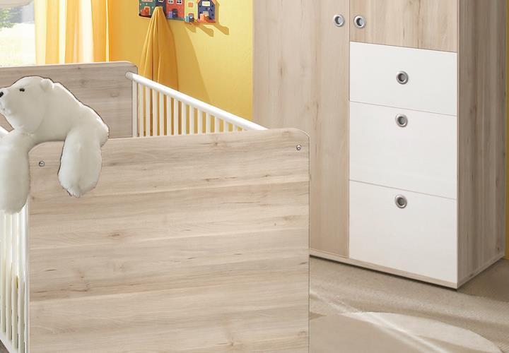 babyzimmer 3 teilig wiki babybett wickelkommode kleiderschrank 2 t rig edelbuche. Black Bedroom Furniture Sets. Home Design Ideas