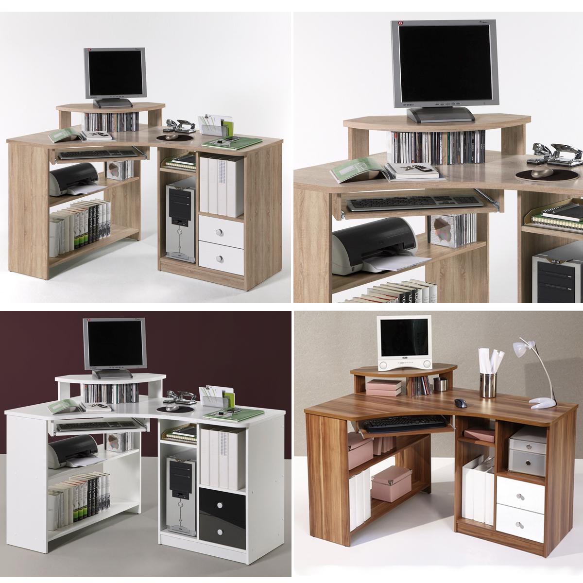 eckschreibtisch tanga computer pc schreibtisch b ro jugendzimmer. Black Bedroom Furniture Sets. Home Design Ideas
