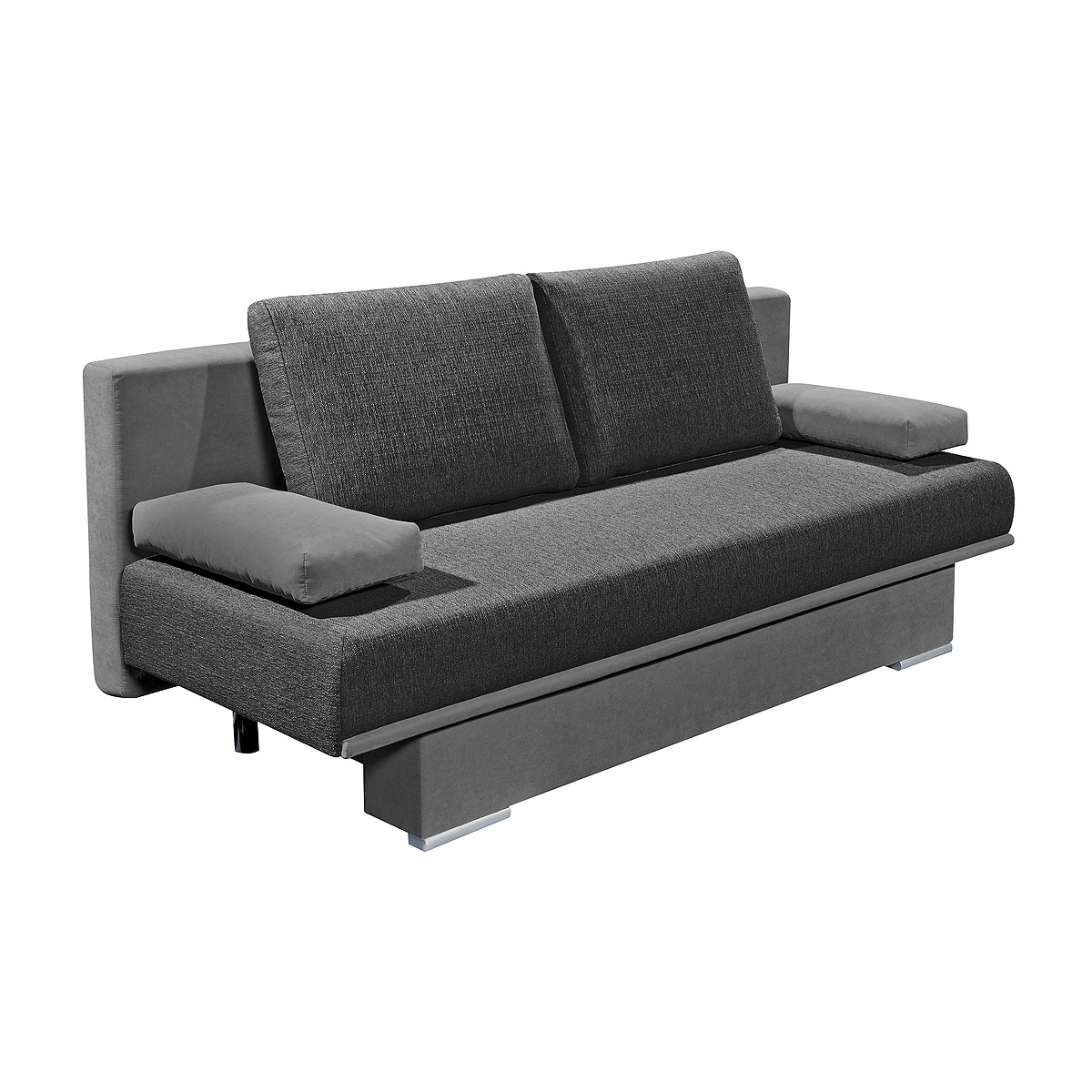 schlafsofa sina sofa funktionssofa mit bettkasten und kissen in anthrazit ebay. Black Bedroom Furniture Sets. Home Design Ideas