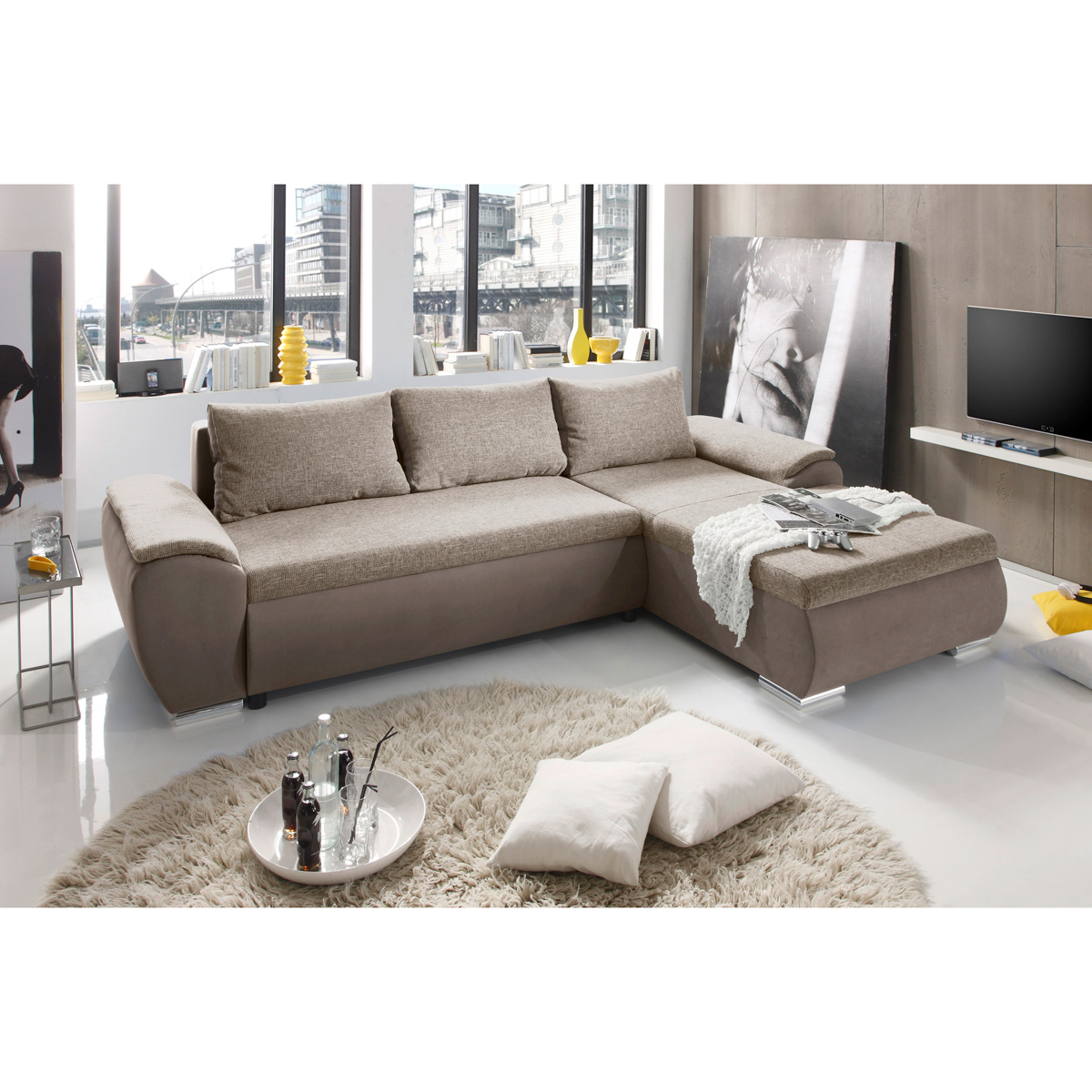 ecksofa game sofa auswahl petrol braun beige schwarz anthrazit beleuchtung ebay. Black Bedroom Furniture Sets. Home Design Ideas
