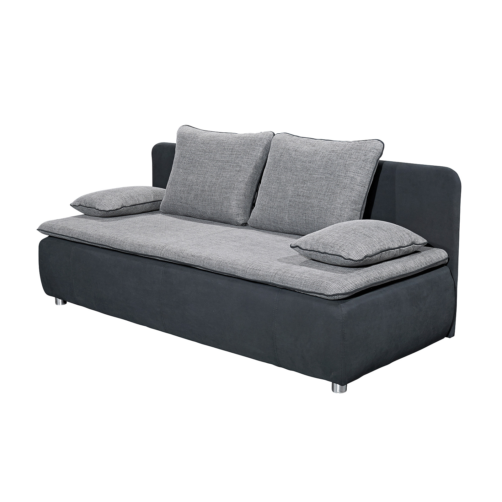 schlafsofa sonja sofa funktionssofa in schwarz und anthrazit mit topper. Black Bedroom Furniture Sets. Home Design Ideas
