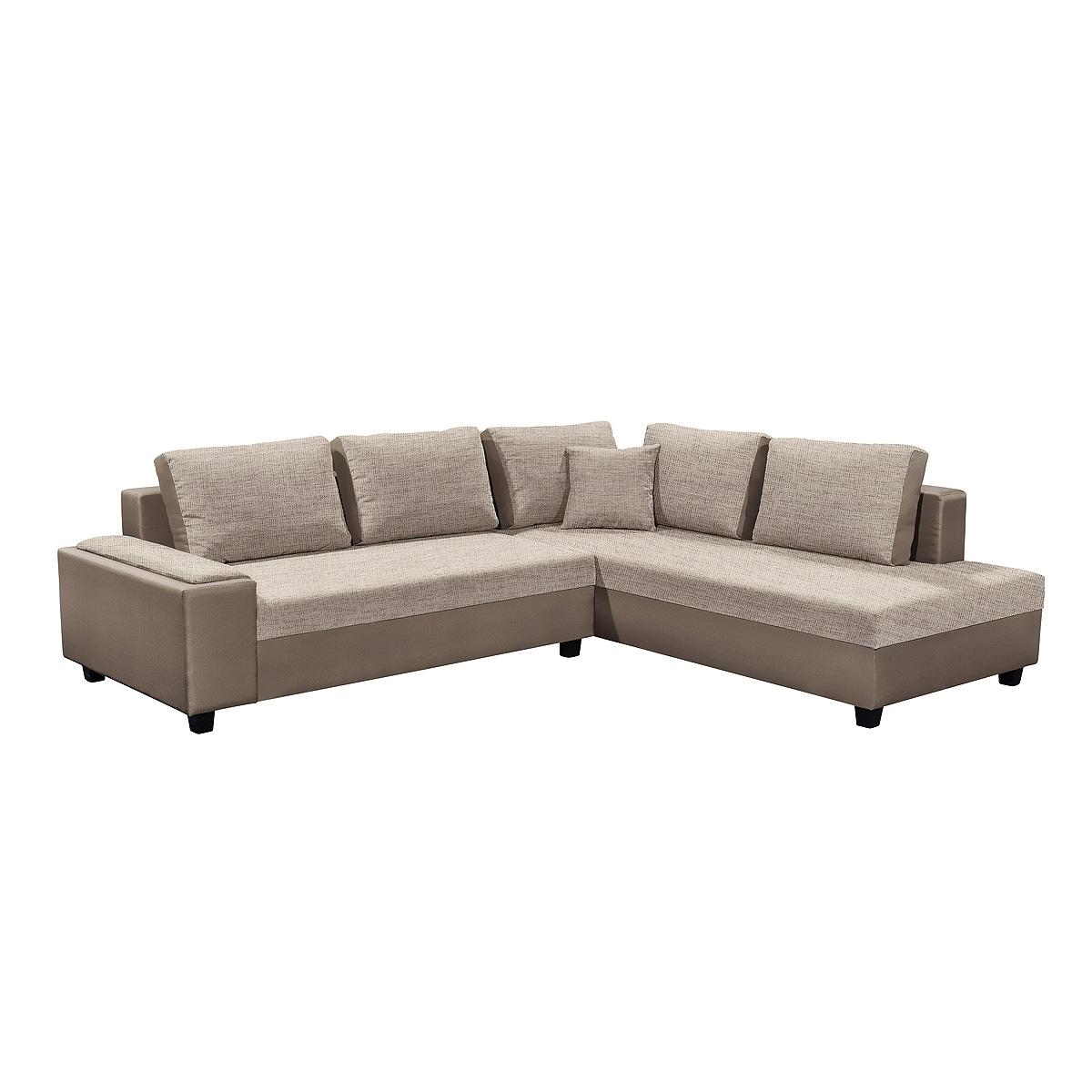 ecksofa ronny 2 wohnlandschaft sofa mit hocker in braun und beige ebay. Black Bedroom Furniture Sets. Home Design Ideas