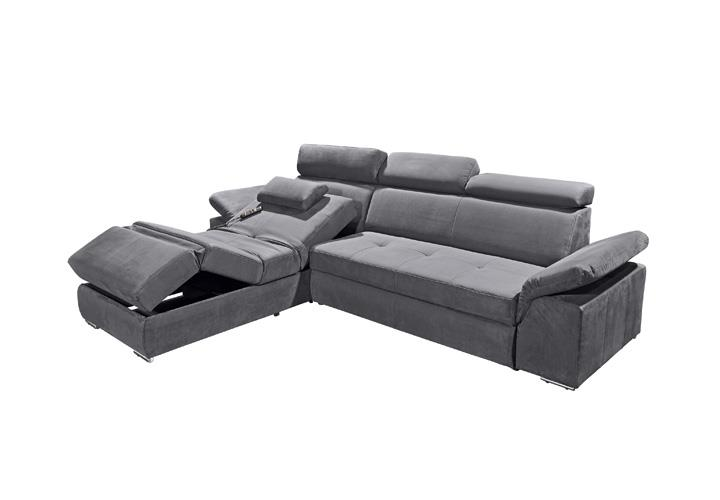 ecksofa napoli sofa relaxsofa wohnlandschaft in anthrazit mit relaxfunktion ebay. Black Bedroom Furniture Sets. Home Design Ideas