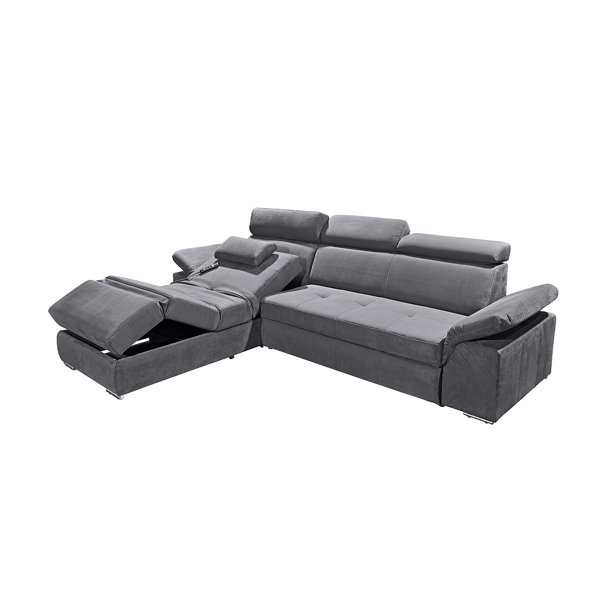 ecksofa napoli sofa relaxsofa wohnlandschaft in anthrazit mit relaxfunktion eur. Black Bedroom Furniture Sets. Home Design Ideas